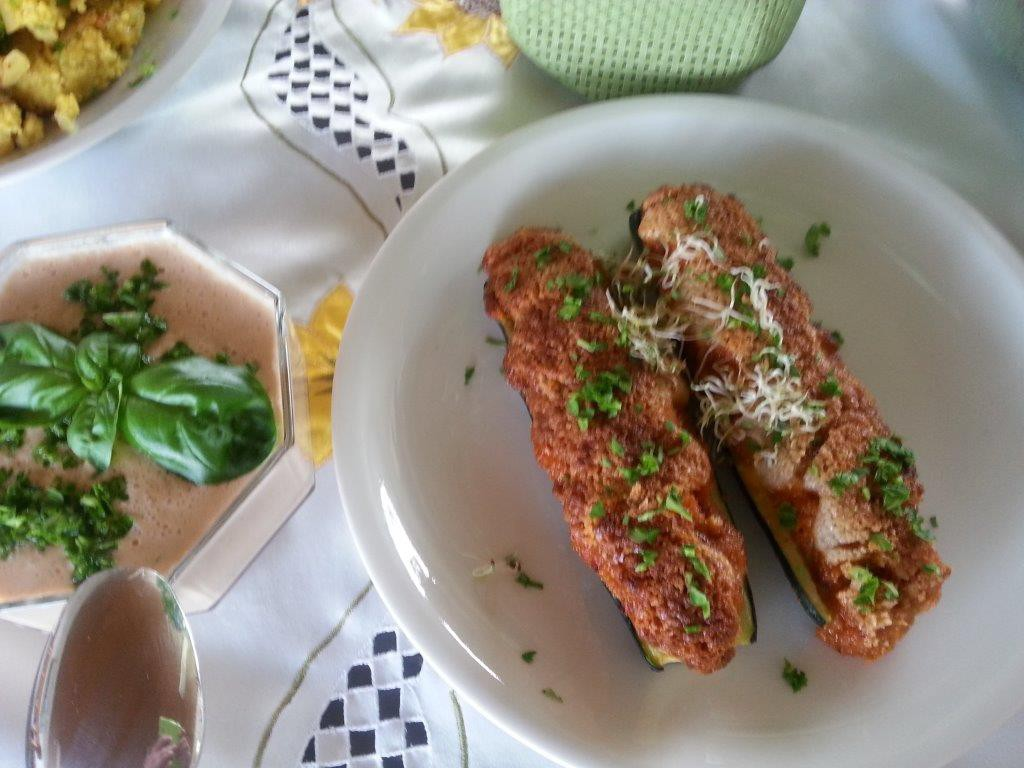 Zucchini überbacken