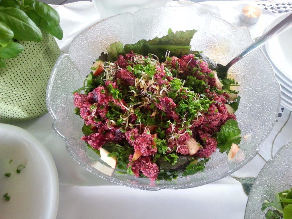 Salat aus Getreide